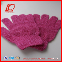 Terry Shower And Bath Wash Glove With Sisal Exfoliating Strap
