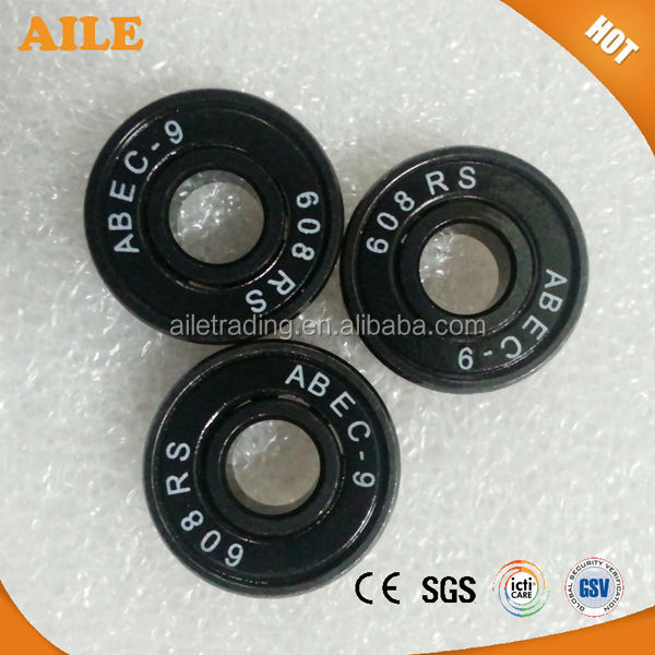 Free Shipping ABEC 9 High Quality High Speed 608 Black Steel Skate <strong>Bearing</strong>