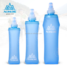 BPA Free Brinkware Soft high quality collapsible plastic silicone sport water bottle