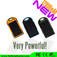 Best price about 12000mah portable solar power bank cell for hot sale