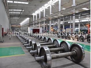 Railway wheel sets for all types of freight wagons.