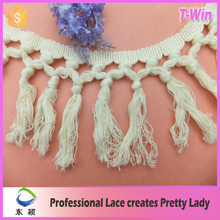 China supplier fringes for dresses/fashion decorative lace fringe for curtain