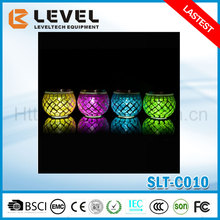 Wholesale Color Changing Powered Solar Mosaic Glass Ball Light Stainless Steel Mosaic Solar Glass Light