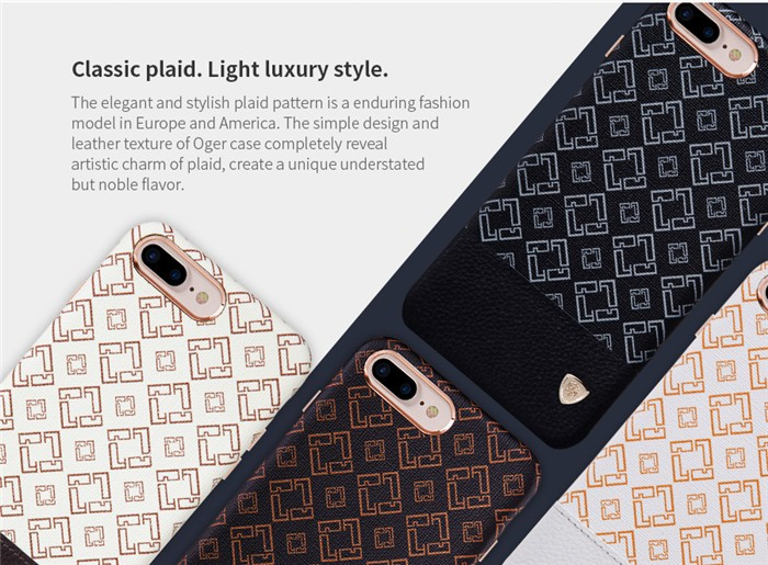 Nillkin Luxury Metal + Leather Back Cover Phone Case for iPhone 6s Phone Cover