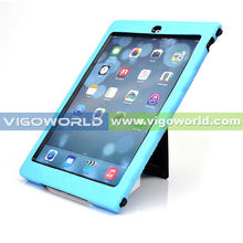 Hot Selling Hybrid Silicon+PC With Built-in Kickstand Case Cover For iPad Air