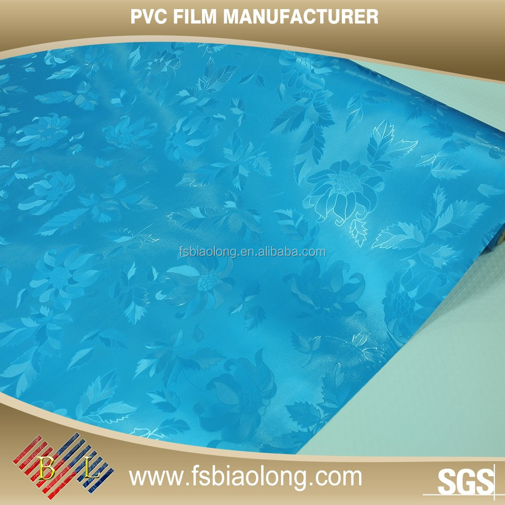 OEM/ODM acceptable Indoor Decoration Not Self-Adhesive PVC colorful Pvc Film For Furniture