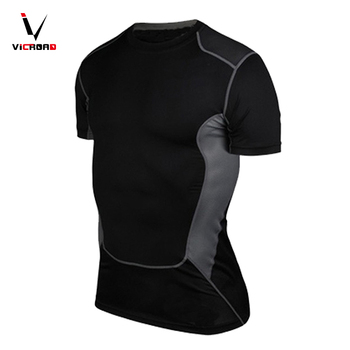 Gym Running Round Neck Short Sleeve Casual slim fit mens fitness t-shirts