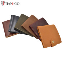 Luxury brand nubuck leather cowhide Mini Wallet short slim purses thin money bag