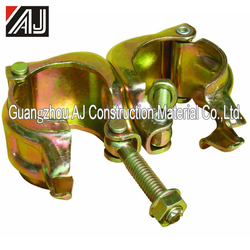 Guangzhou manufacturer galvanized steel scaffolding pressed swivel coupler