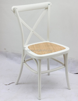 Wholesale plastic cross back chair dining chair