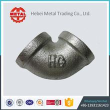 galvanised malleable iron pipe fittings bushing solid elbow