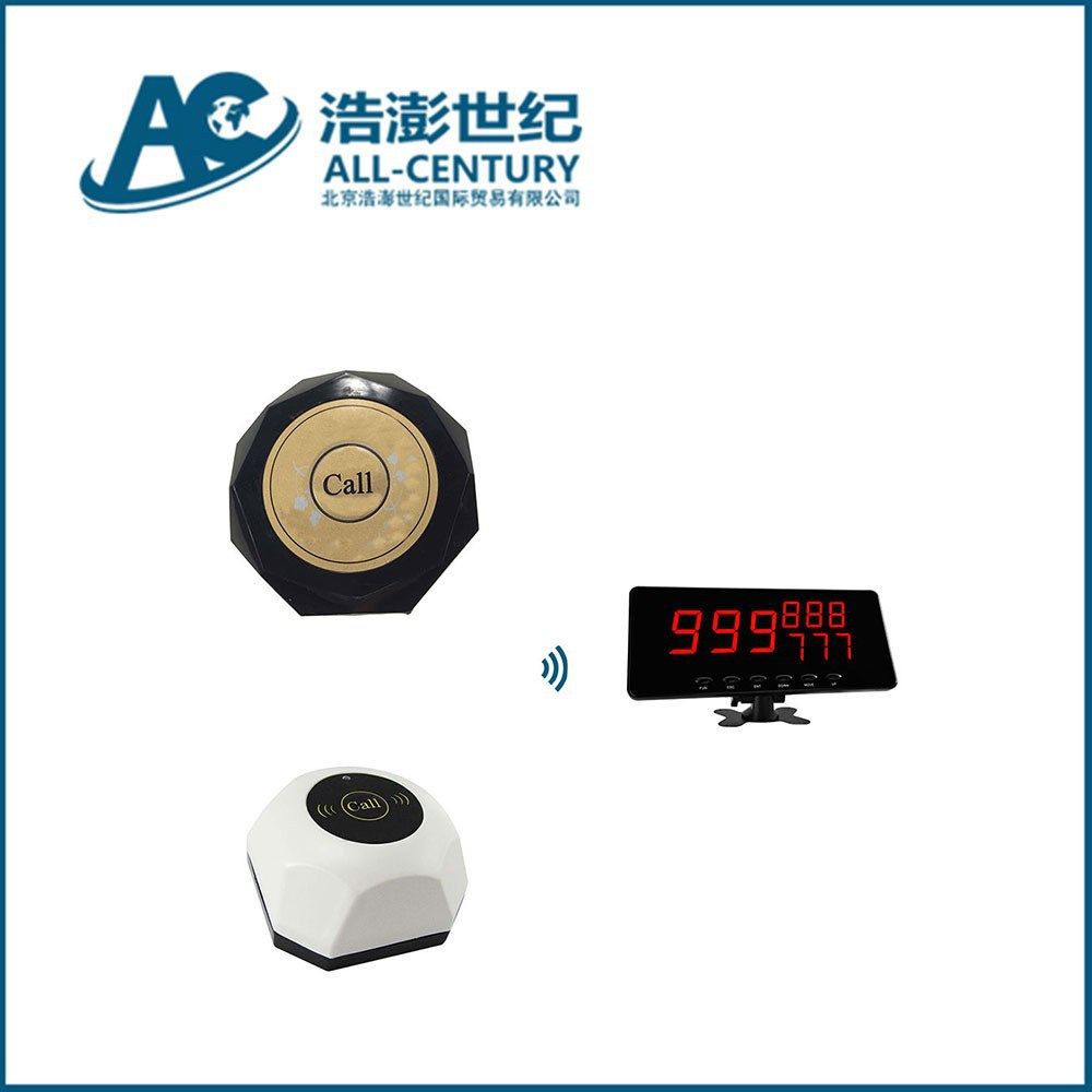Made in china wireless waiter call system restaurant table display