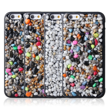 Special Little Stone Stick Leather PC Phone Case Cover For iphone6