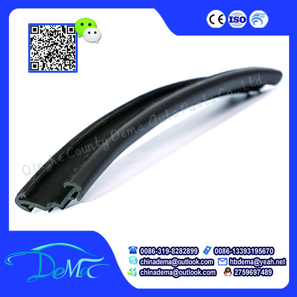 Glass edge rubber for sealing strip