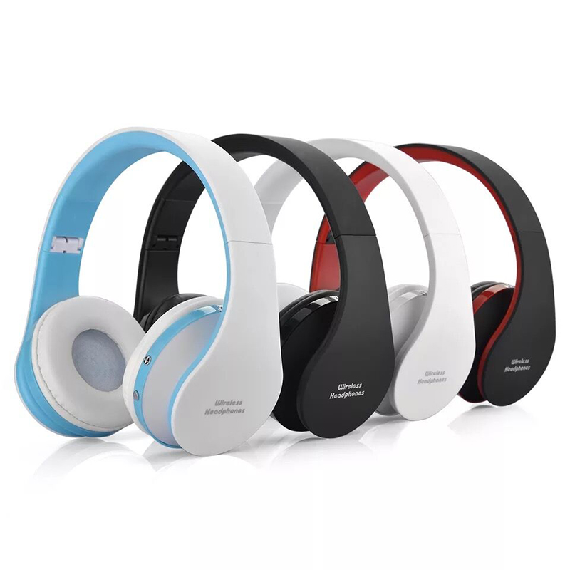 Super Bass BT Headphone Wireless With MIC Support TF Card FM Radio Stereo Headset For Computer