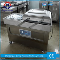Double chamber vacuum sealing machine Vegetable meat fruit rice vacuum skin packaging machine for sale
