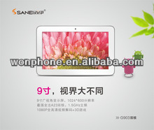Newest Made in China 9 inch Sanei N903 Tablet PC AllWinner A23 Android 4.2 512M 8GB