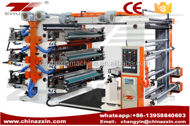 6 Color Flexible packages Flexo Printing Machine