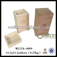 Shenzhen Unfinished Natural Wood Craft Hinge Tea Box