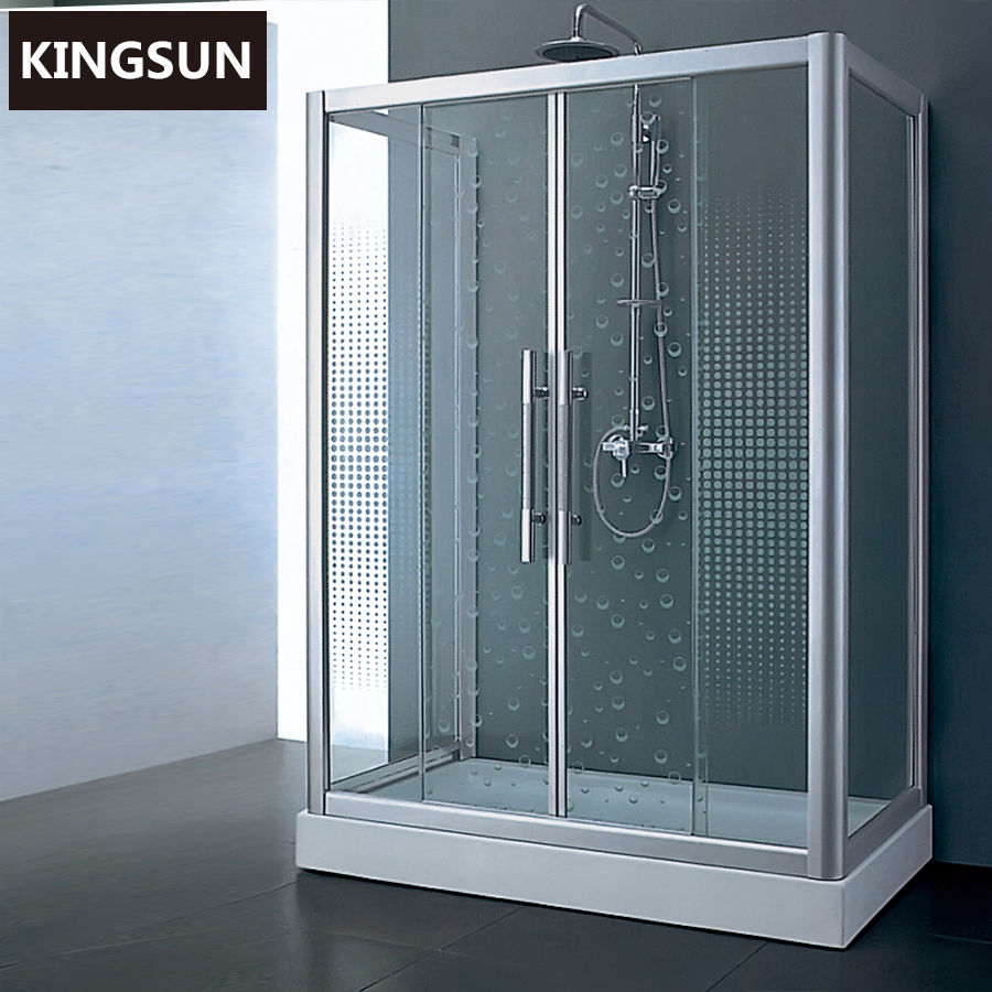 Foshan Prefab Block Glass Bathrooms Designs Shower Room Bathroom Cabinet Curved