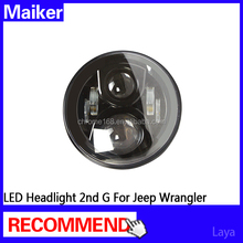 2nd G LED Headlight for jeep wrangler led lights 7 inch jeep led headlight