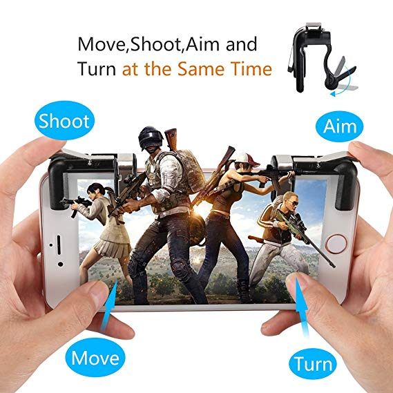 2018 Newest Sensitive Shoot and Aim Trigger Fire Metal Button PUBG mobile controller