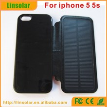 Digital diaplsy Portable Solar Powered Cell Phone Case Charger for iphone 5 5s