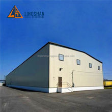 Contemporary New C Purlin Safety Design large span warehouse in europe