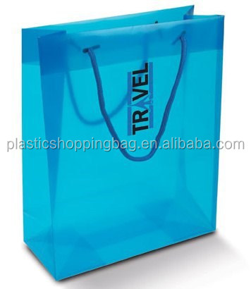 Plastic Drawstring Tote Carrier Bag