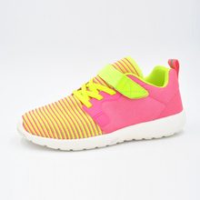 New design 2017 flyknit kids shoes breathable outdoor gym school kid shoes