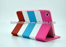Hot Selling Rainbow PU Leather Case for iPad mini2 mini1