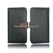 2013 universal wallet case for iphone5/I9300/I9100/iphone 4 PU Leather Case with Credit card slot