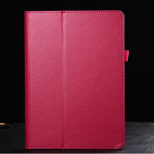 Mix colors Luxury Leather Case for iPad 6,Folding Standing cover Case for iPad Air 2