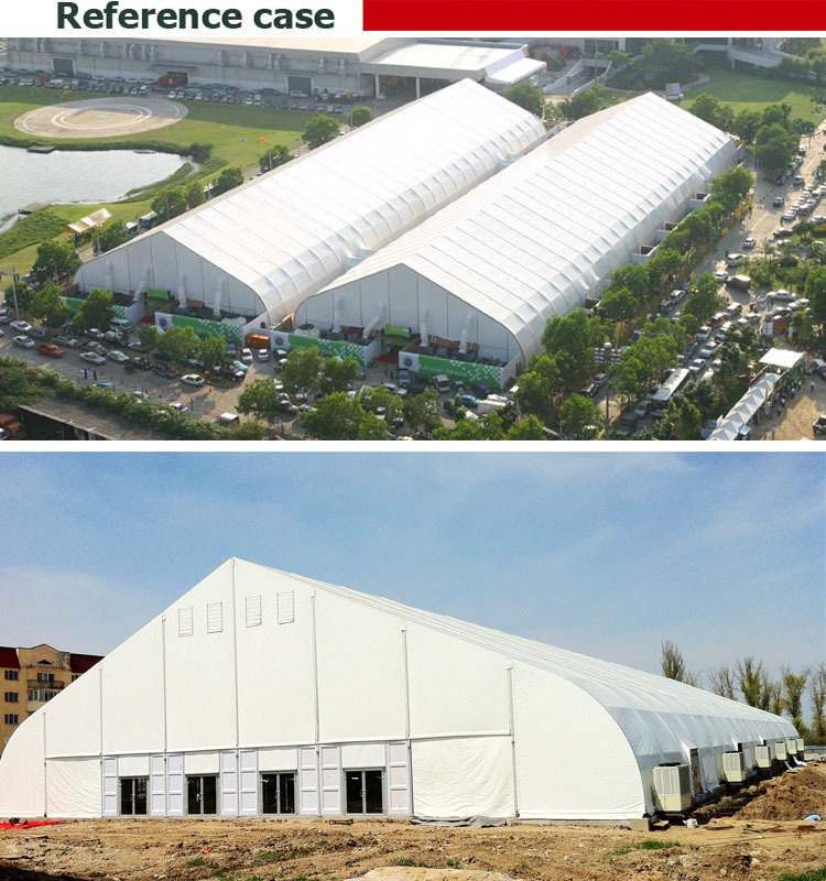 Aluminum Tfs 40mx30m Curved Festival Tent Pvc Fabric Roof