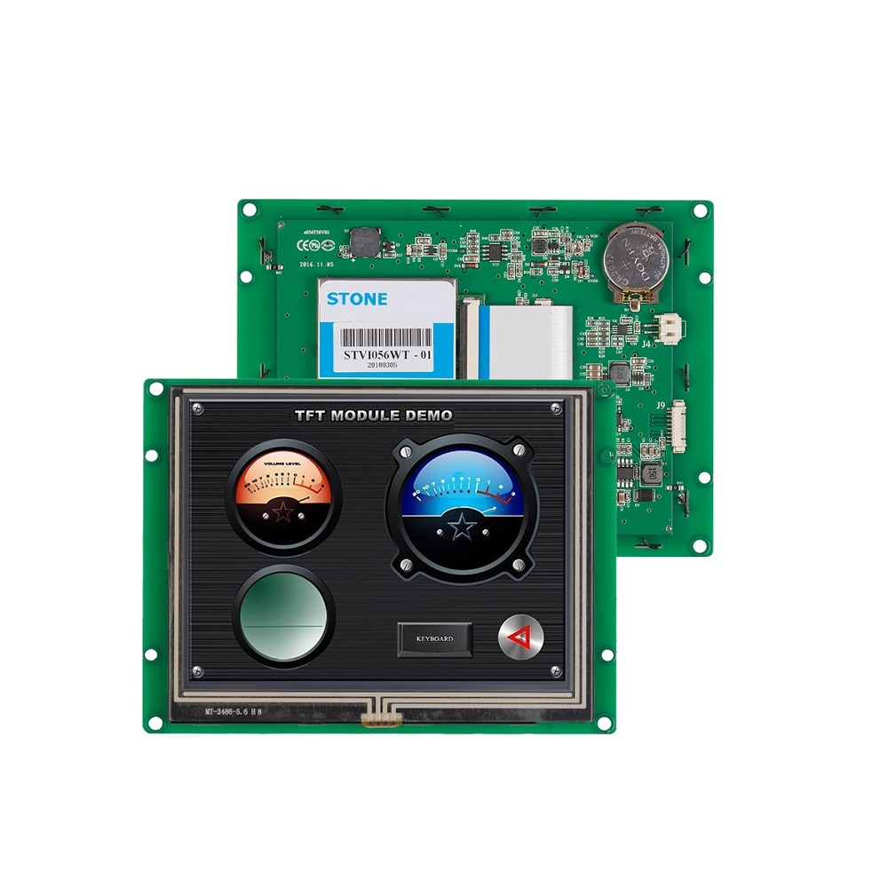 STONE 5.6 inch LCD Display Embedded Monitor with Controller + TTL RS485 RS232 + Develop Software
