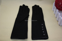 Women's Black Fashion Long Style Cashmere Hand Gloves for Sale