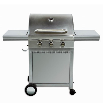 3 Burners Version Electronic Barbecue Set, Double Layer & Hood