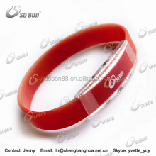 promotional 2016 unique customized titanium silicone wrist bands boi strap wholesale bracelets for women jewelry