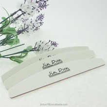 white halfmoon nail file custom made EVA nail file nail art tool manufacture