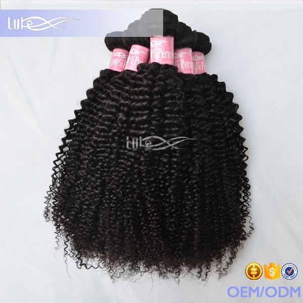 Top Quality Hot Selling Product Full Cuticle Cheap 100% Remy Peruvian Kinky Curly Human Hair Weave Brands