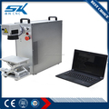 20W Optical desktop and portable Fiber Laser Marking Machine on paper copper ring jewelry made by SENKE