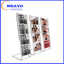 Slant acrylic frame photos, sign and certificate holder