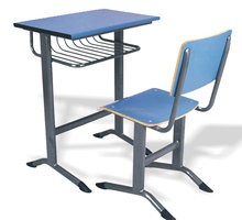 single cheap school desk and chair