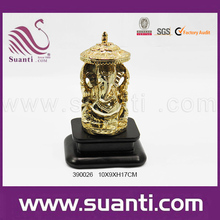 Hindu lord gold plated ganesh murti buddha statue for sale