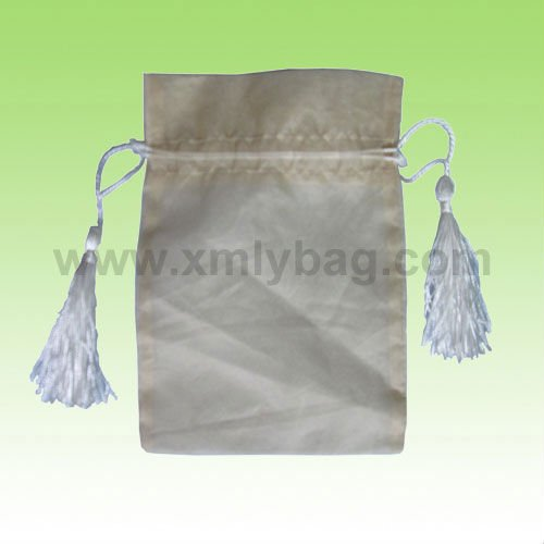 Nice Tassels Drawstring Organza Candy Bags For Wedding Favors