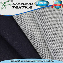 Wholesale 260gsm jean fabric 100 cotton fleece knit denim fabric WHCP-01