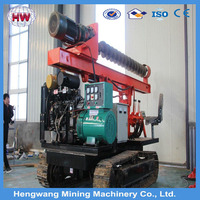 2016 hengwang high Solar System Crawler Post Ramming Pile Machine Solar Pile Driver Machines