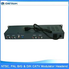 JM-860 CATV 4 Channels Fixed Modulator / SAW Filtered TV Modulator Electronics for Telecommunications fm broadcast amplifier