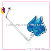 Twins blue heart handbag hook hanger with long hooks wholesales 2013