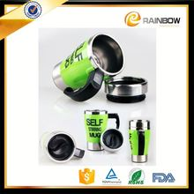 Novelties goods from china auto mixing stainless steel plain mug